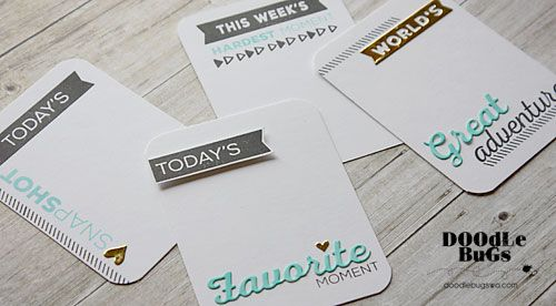 Doodlebugs: Pocket Scrapbooking with Technique Tuesday