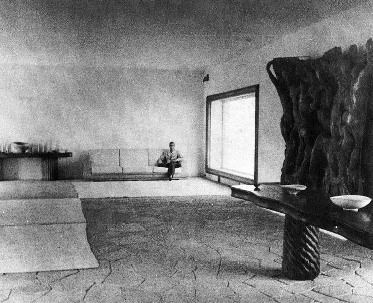 Curzio Malaparte in the main salon living space