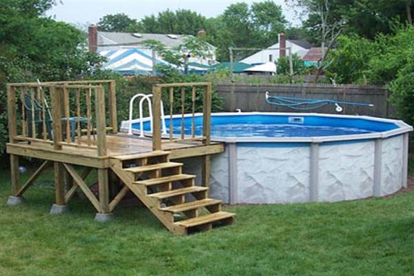 Deck plans for above ground pools low prices outdoors for Above ground pool decks images
