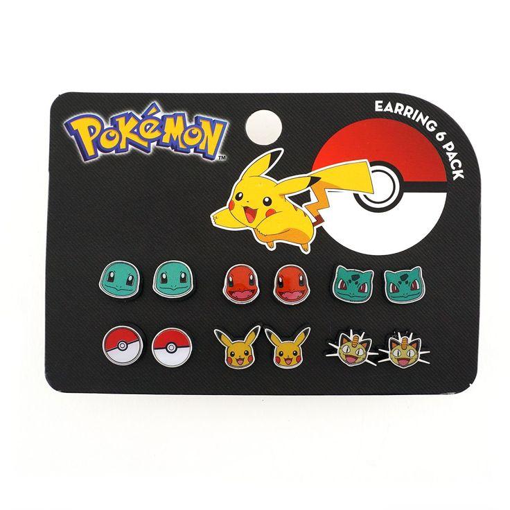 Pokemon Starters Earrings 6 Pack