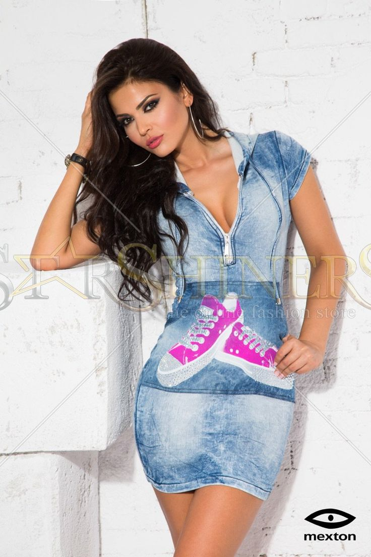 Mexton Lovely Shoes Blue Dress