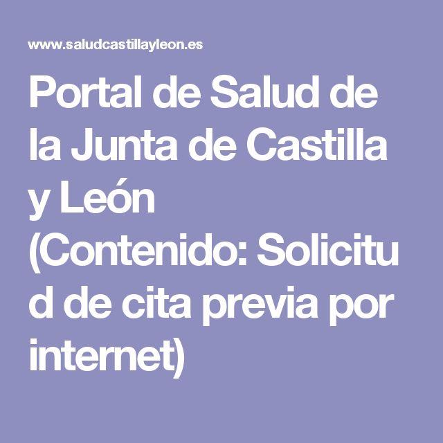 Portal de Salud de la Junta de Castilla y León (Contenido:Solicitud de cita previa por internet)