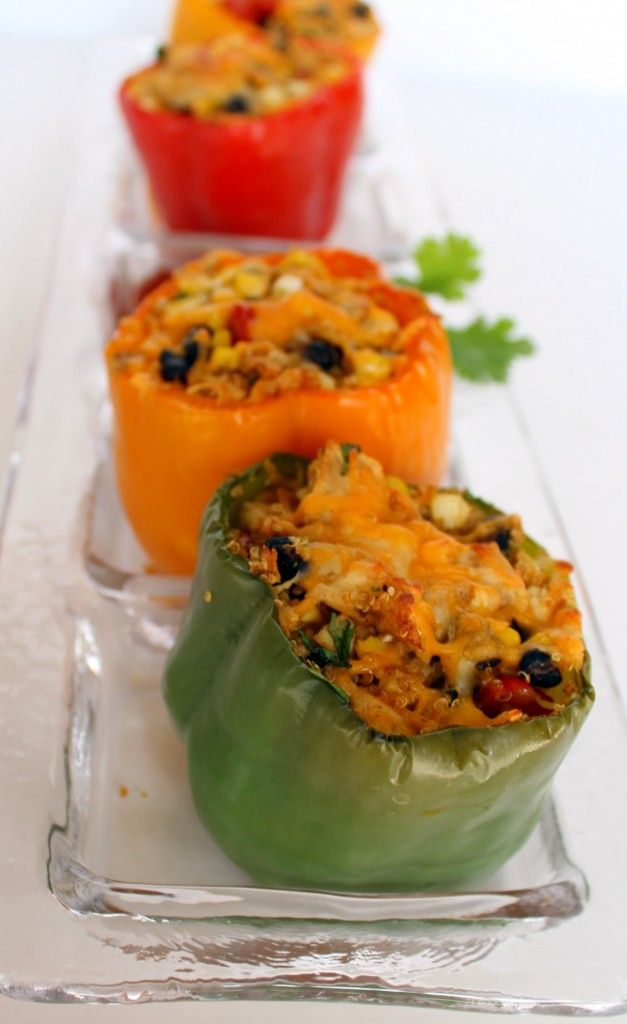 Southwestern Quinoa Stuffed Peppers- I must try!