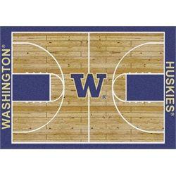 Washington Huskies Basketball Court Rug
