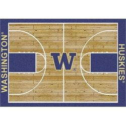 Washington Huskies Basketball Court Rug