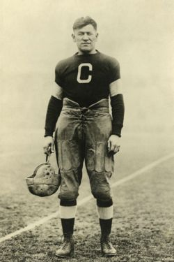 Jim Thorpe with the Canton Bulldogs, sometime between 1915–1920, who was one of the greatest players in the history of American football