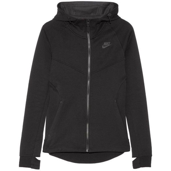 38bd56ed3d NIKE Tech Fleece cotton-blend jersey hooded top (€70) ❤ liked on Polyvore  featuring tops