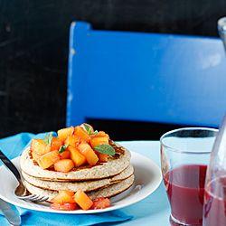 Banana-coconut pancake with mango | Foods | Pinterest