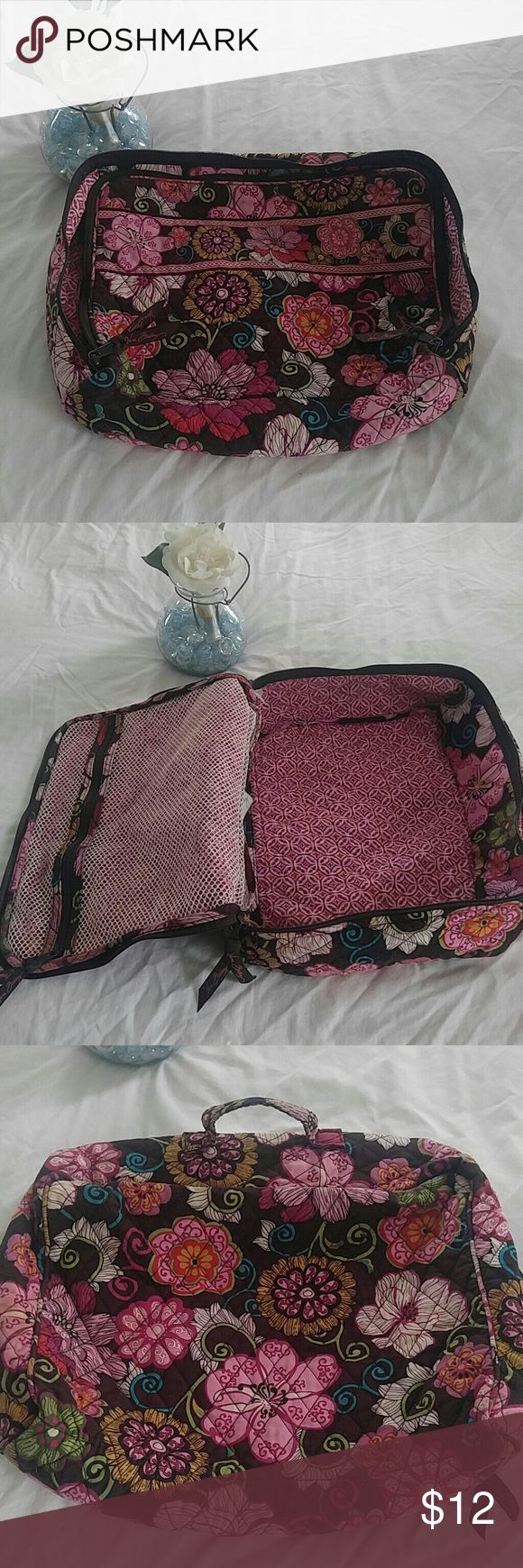 Vera Bradley travel bag Vera travel bag. Has signs of use (pictured) but still plenty of useful life left. If any questions or want more photos just ask. Offers welcomed! Vera Bradley Bags Travel Bags
