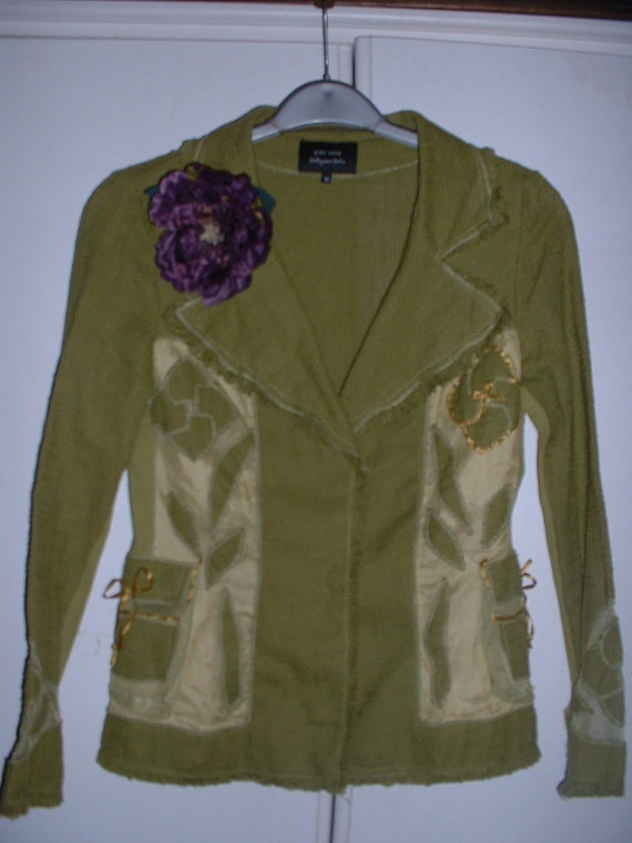 Olive Open Weave Hemp and Net Faery Hunter's  Jacket by spart1cus, £29.00