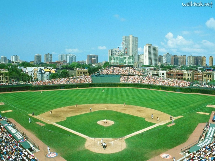 Wrigley Field,home of the Chicgo Cubs.