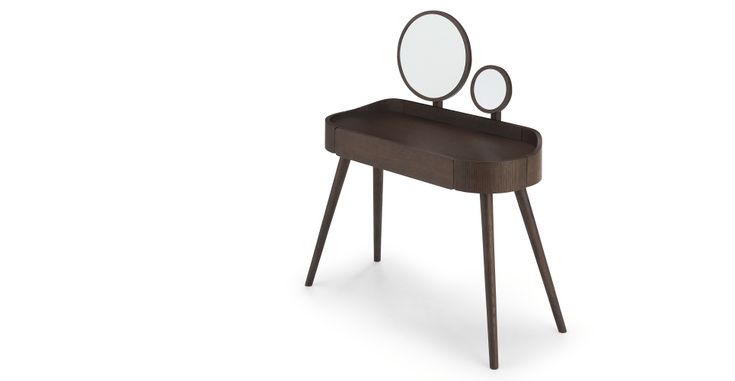 Ada Dressing Table, Dark Stain Oak | MADE.com