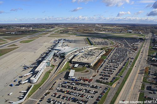 Aerial view of Buffalo Niagara International Airport. Check out more insight @ http://www.airport-technology.com/projects/buffalo-airport/