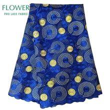 Spitze Afrikanische Stoffe Französisch Net Afrikanischen Kleid Tüll Mesh Bestickte Spitze Königsblau Guipure-spitze Hochzeit Stoffe Indische Baumwolle Voile(China (Mainland))