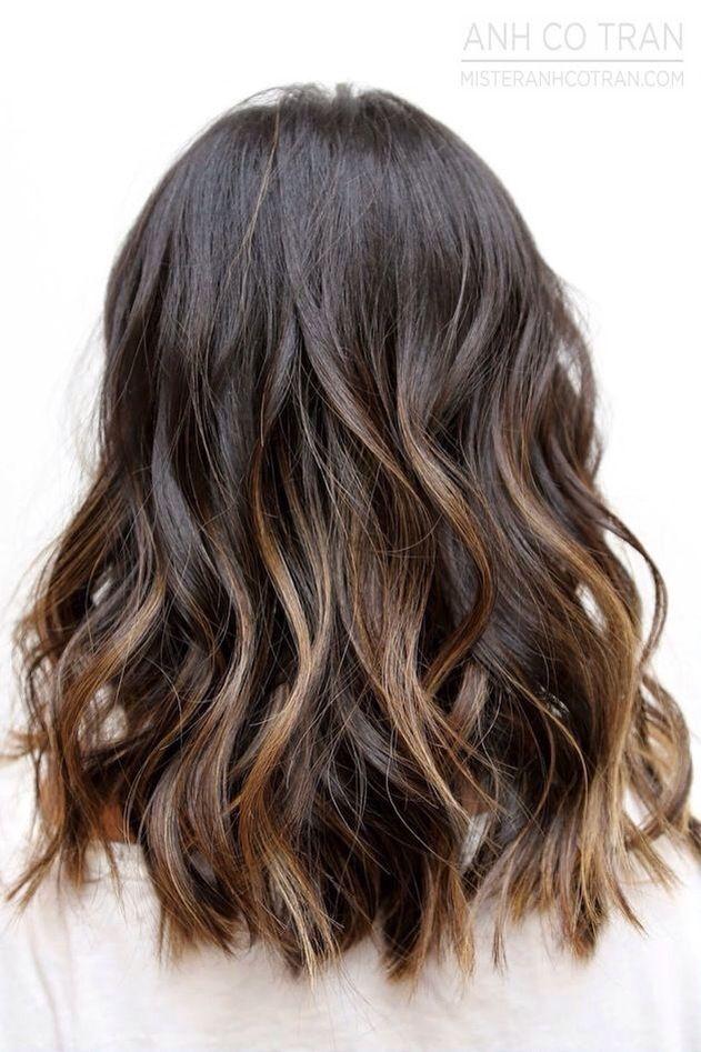 Caramel ombré high lights to dark hair xx