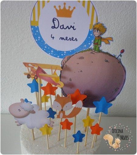 Topo de bolo Pequeno Príncipe.