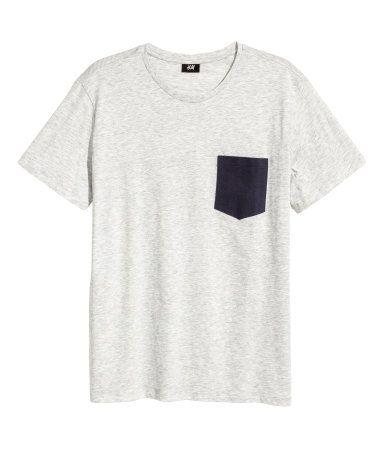Camiseta | Gris jaspeado | Hombre | H&M CO