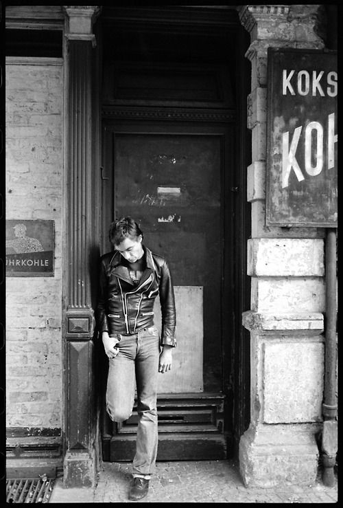 Iggy Pop looking punk in Berlin, 1978.