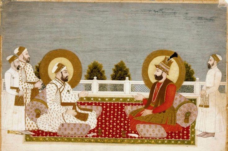 Mughal Emperor Muhammad Shah and Iranian King Nader Shah - 1740