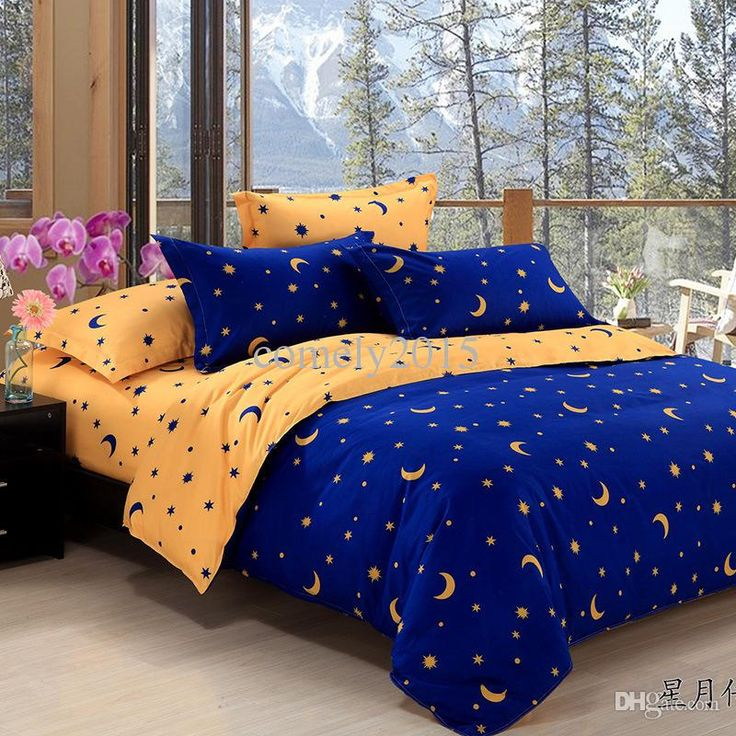 home textiles star moon figure bedding sets duvet cover bed sheet pillowcase 22 pattern white