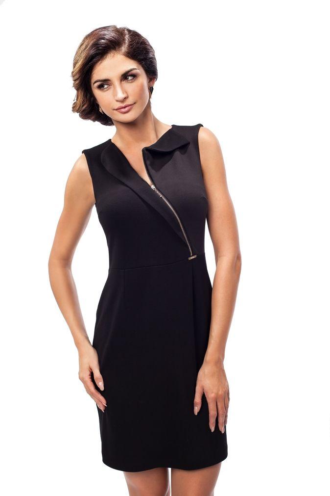 Klasyczna czarna koktajlowa sukienka