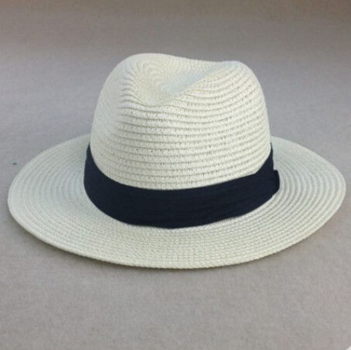 Fashion white fedora hat for women straw panama hat summer wear