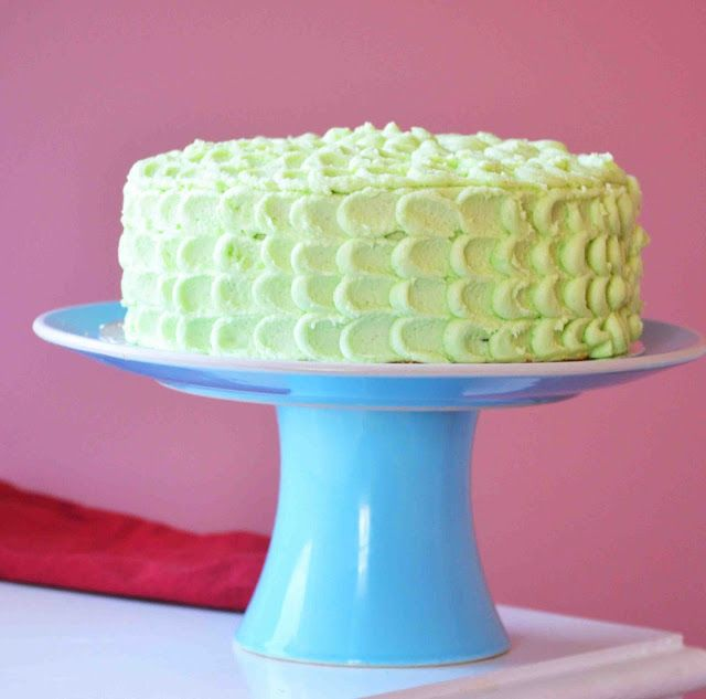KEY LIME CAKE WITH WHITE CHOCOLATE BUTTER CREAM #DESSERT