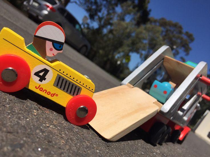 Élément du camion transporteur 4 voitures Story racing - jouet en bois - à partir de 2 ans.