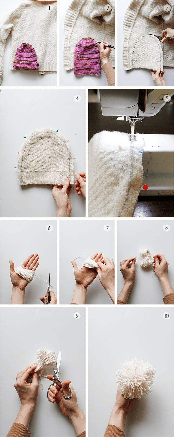 How to Make a Hat from an Old Sweater                                                                                                                                                                                 More