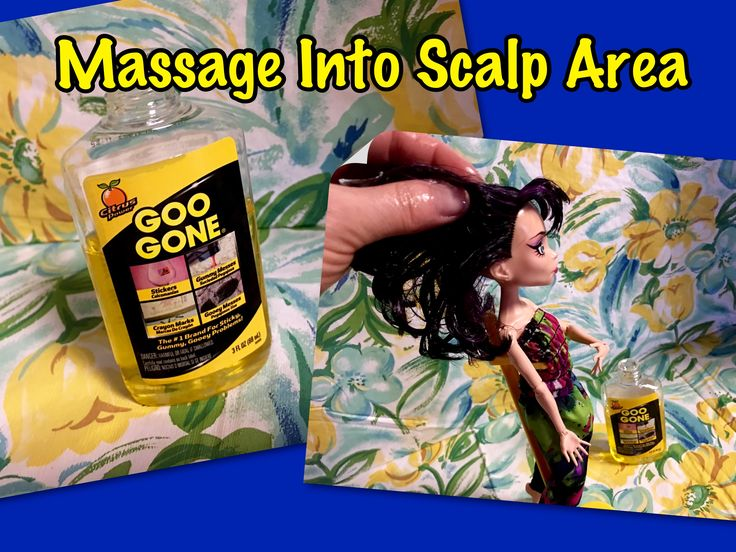 how to fix greasy doll hair with goo gone