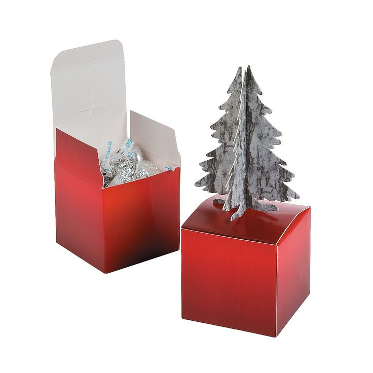 Christmas Tree Favor Boxes - OrientalTrading.com