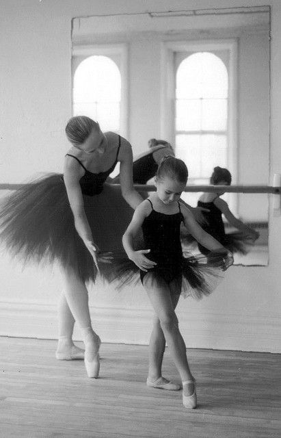 Ballerina and little ballerina.