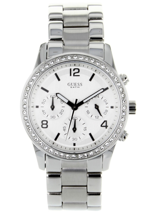 Price:$128.58 #watches Guess W14537L1, Stainless steel case, Stainless steel bracelet, Silver chronograph dial, Quartz movement, Scratch-resistant mineral, Water resistant up to 5 ATM - 50 meters - 165 feet