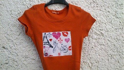 KajDom / Oranžovo-tehlové tričko