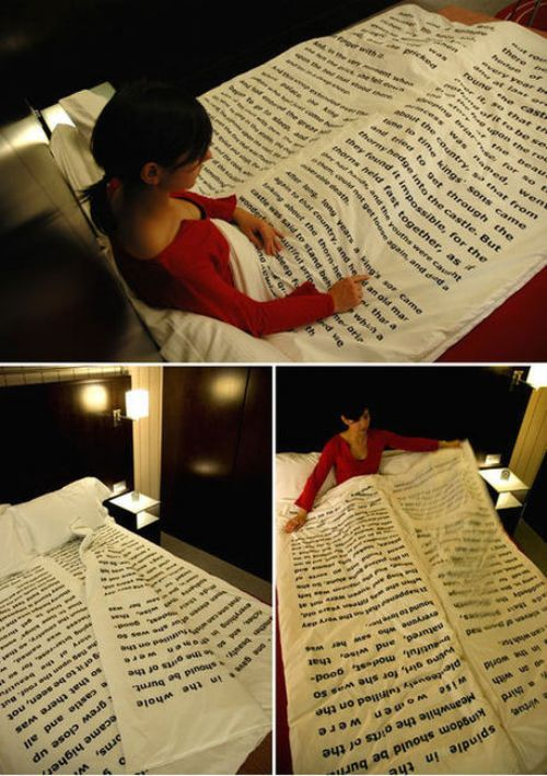 I want Wuthering Heights sheets. No! Jellicoe Road sheets! NO! The Sky is Everywhere sheets!