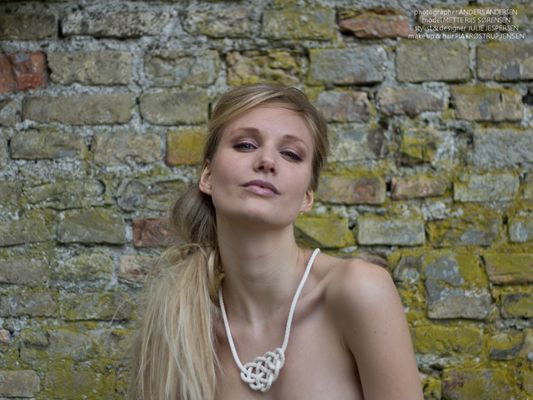 """Cotton necklace with a detailed knot    """"By it on my website ;o)"""""""