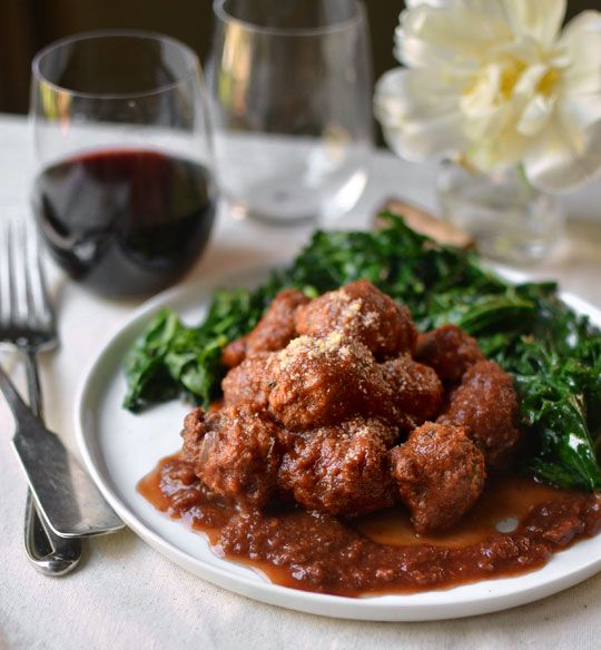Recipe: Veal Meatballs in Red Wine Sauce