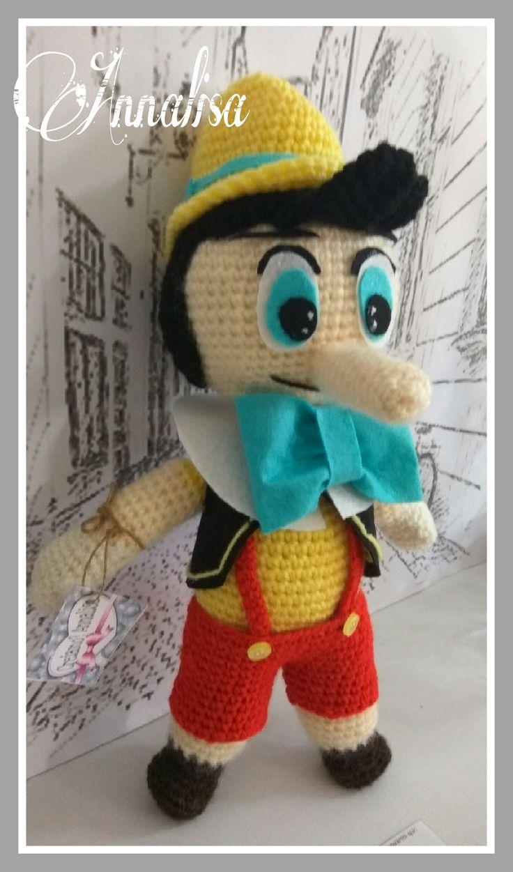 Pinocchio amigurumi uncinetto tutorial sul mio canale YouTube