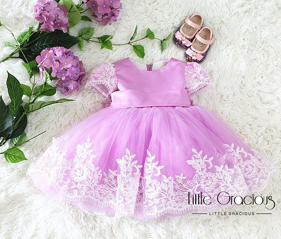 Lavender pageant dress Toddler Easter Dress in Lace Baby Girl