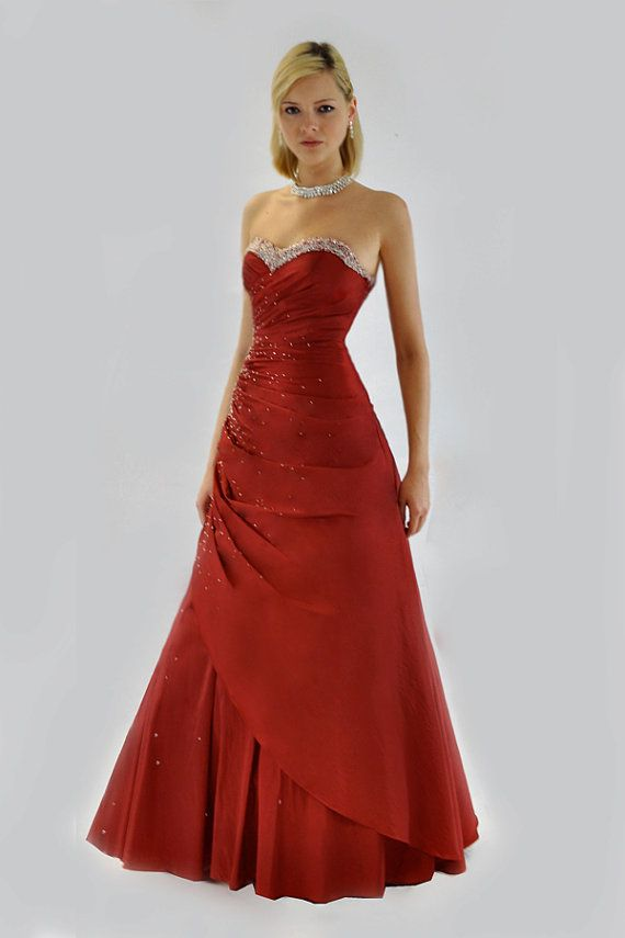 Beautiful Vintage Scarlet Strapless Ball Gown Prom by Wondarlust, £60.00
