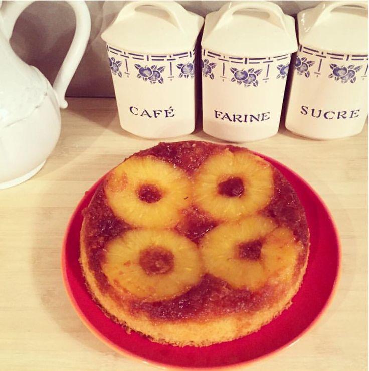 Gâteau renversé à l'ananas 🍍 #passion #pâtisserie #homemade #cooking #ananas