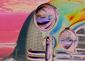 prints on metal Vintage popart vintage car vehicle retro automotive