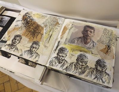 Movement in portraiture - sketchbook pages