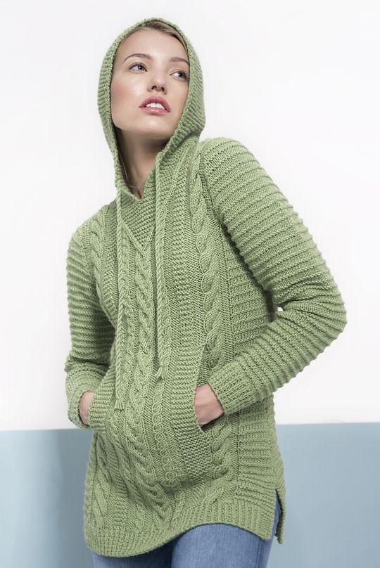 Naisen palmikkoneulehuppari Novita 7 Veljestä | Novita knits