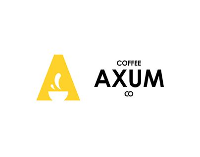 """Check out new work on my @Behance portfolio: """"a logo for coffee shop axum."""" http://be.net/gallery/62446167/a-logo-for-coffee-shop-axum"""