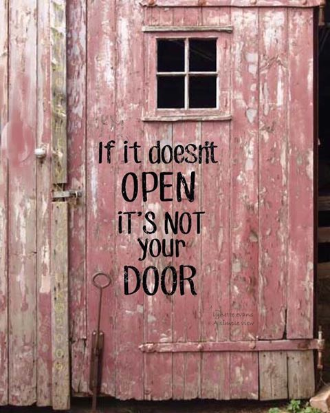 If it doesn't open it's not your door!