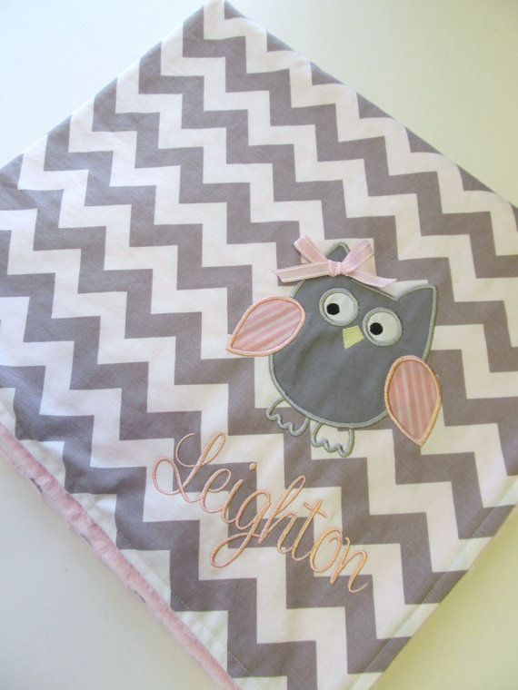 Another sweet item that could be adapted to a quilt and wouldn't it be fun to make that chevron pattern in fabric and not only an owl, but lots of other cute critters could be added like a bunny or a bear.
