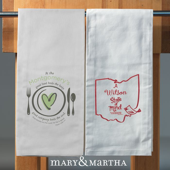 Suggested Text: How Cute Are These PERSONALIZED Tea Towels?! Pictured On  The Right