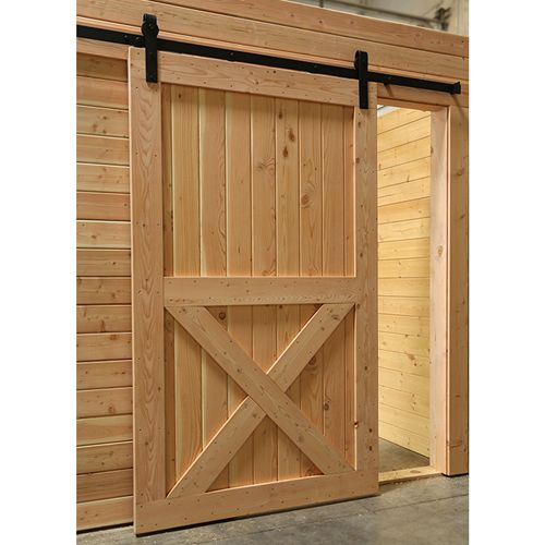 X Brace Barn Door Shown Installed Our Log Cabin Dream