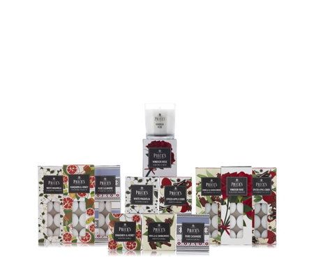 Price's Candles 6 Jar Candles & 60 Tea-lights Fragrance Collection